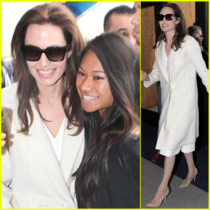 Angelina Jolie Takes Time for Fans While Promoting 'Unbroken'
