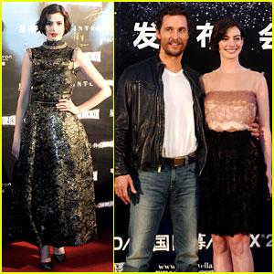 Anne Hathaway & Matthew McConaughey Take 'Interstellar' to Shanghai!