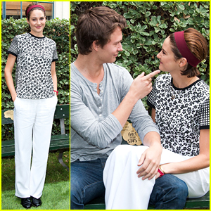 Ansel Elgort & Shailene Woodley Re-Created 'The Fault In Our Stars' Bench Scene at Dedication Ceremony