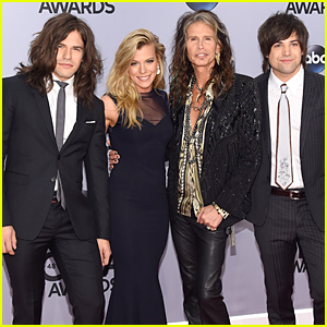 The Band Perry & Steven Tyler Meet Up at CMAs 2014
