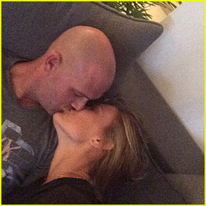 Bar Refaeli & Boyfriend Adi Ezra Kiss & Look Happily in Love