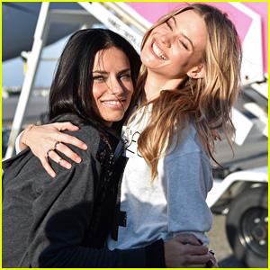 Behati Prinsloo & Adriana Lima Jet Off to London for Victoria's Secret Fashion Show 2014