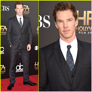 Benedict Cumberbatch Can't Go Unrecognized at Hollywood Film Awards 2014