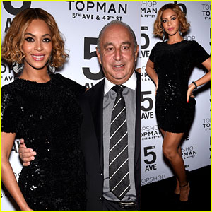 Beyonce Hits the Black Carpet for Topshop's Store Opening!