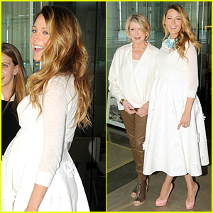 Pregnant Blake Lively & Martha Stewart Happily Pose Together at American Made Summit