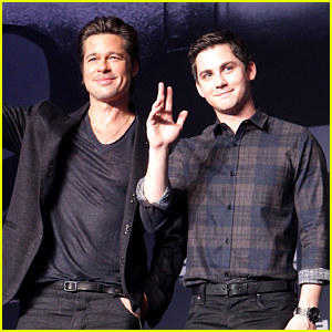 Brad Pitt & Logan Lerman Take the Stage for 'Fury' in Seoul!
