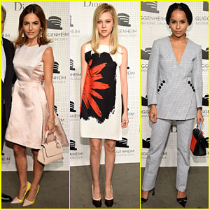 Camilla Belle & Nicola Peltz Look Red Carpet Ready at Guggenheim International Gala Pre-Party