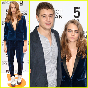 Cara Delevingne & Max Irons Are Picture Perfect at Topshop Topman Flagship Store Opening