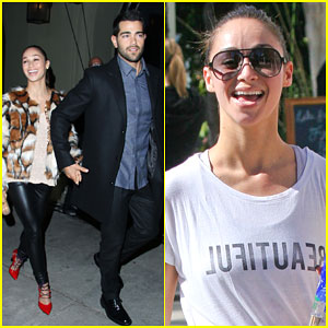 Jesse Metcalfe & Cara Santana Have a Cute Couples' Night Out