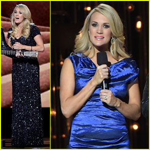 Carrie Underwood Accentuates Baby Bump in Final CMAs Look!