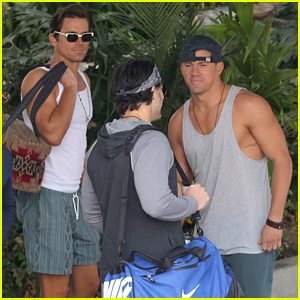Channing Tatum & Matt Bomer Make it a Gun Show on 'Magic Mike XXL' Set!
