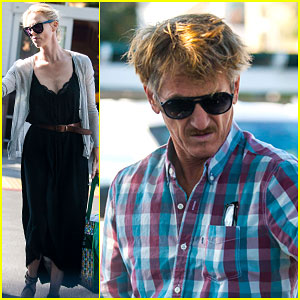 Charlize Theron & Sean Penn Spend Some Time Together Grocery Shopping