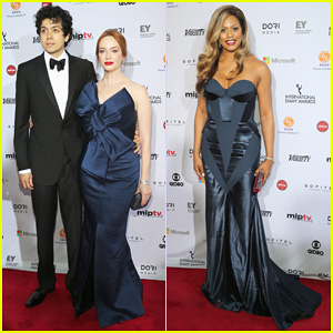 Christina Hendricks & Laverne Cox Put Their Gowns On for the International Emmy Awards 2014