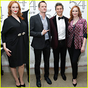 Christina Hendricks Supports David Burtka Two Nights in a Row!