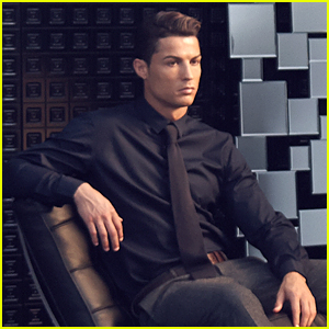 Cristiano Ronaldo Looks Like a Male Model in CR7Shirts BTS Pic