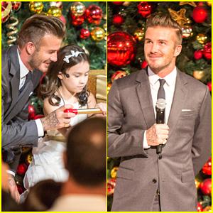 David Beckham Looks Dashing While Getting into the Christmas Spirit