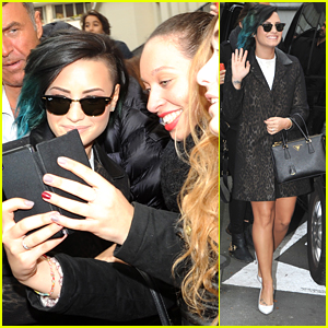 Demi Lovato Greets Fans In Paris After Olly Murs Duet Drops