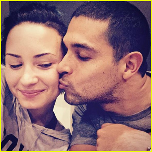 Demi Lovato Gets a Sweet Kiss From Wilmer Valderrama in Rare PDA Pic
