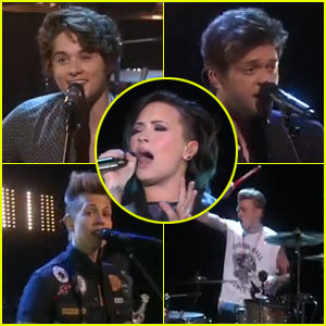 Demi Lovato & The Vamps Perform 'Somebody to You' on 'Ellen' - Watch Now!