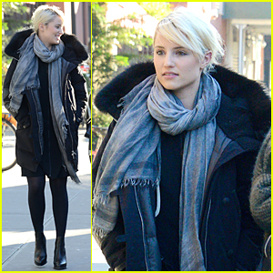 Dianna Agron Looks Really Warm in Cold NYC Weather