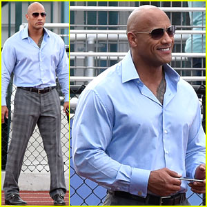 Dwayne Johnson Starts Filming New HBO Comedy 'Ballers'!