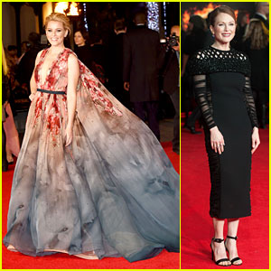 Elizabeth Banks & Julianne Moore Bring Their Style to 'Mockingjay' London Premiere!