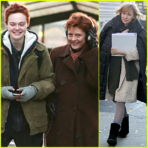 Elle Fanning & Susan Sarandon Look Happy to Shoot 'Three Generations' in Chilly NYC