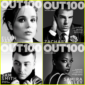 Ellen Page, Zachary Quinto, & More Honored as 'Out' Magazine's OUT100 Cover Stars