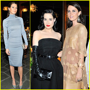 Ellen Pompeo & Dita Von Teese Show Their Support for Tod's