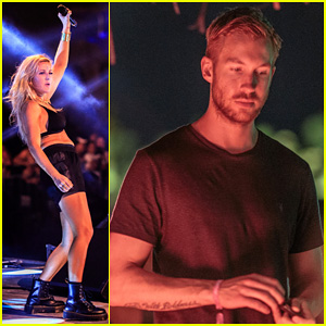 Ellie Goulding & Calvin Harris Live It Up at the Bacardi Triangle!