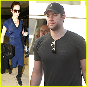 Emily Blunt Leaves Husband John Krasinski at Home & Flies Out of LAX Airport