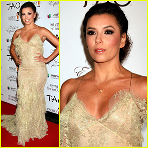 Eva Longoria Goes Gold as the Host of Padres Contra El Cancer Event!