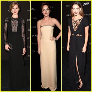 Evan Rachel Wood & Dakota Johnson Glam It Up at LACMA Art + Film Gala