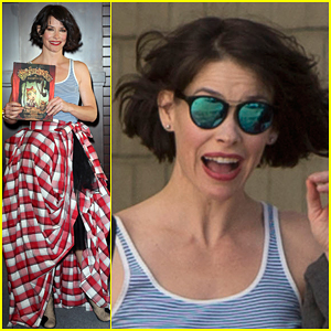 Evangeline Lilly Really Loves Wearing This Fun & Crazy Costume Inspired By Her Book