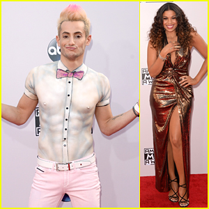 Frankie Grande Opts For Paint Instead of a Shirt at American Music Awards 2014!