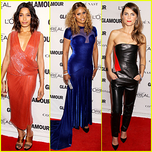 Freida Pinto & Honoree Laverne Cox Turn Heads at Glamour Women of the Year Awards 2014