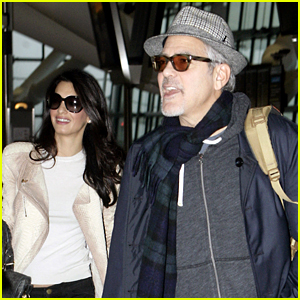 George Clooney & Wife Amal Fly Out of London on Thanksgiving!