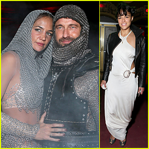 Gerard Butler is His Mystery Girlfriend's Knight on Halloween
