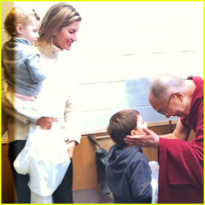 Gisele Bundchen & Her Kids Vivian and Benjamin Meet the Dalai Lama!