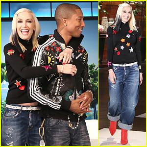 Gwen Stefani & Pharrell Williams Give 'Spark The Fire' Music Video Sneak Peek on 'Ellen' - Watch Now!
