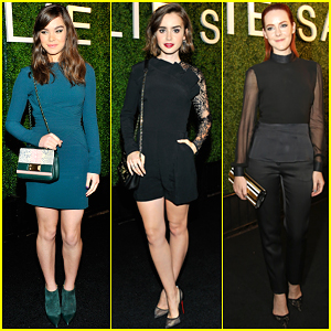 Hailee Steinfeld & Lily Collins Are Lovely Ladies at Elie Saab Dinner