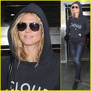 Heidi Klum Heads Back to L.A. After Rocking an Epic Halloween Costume