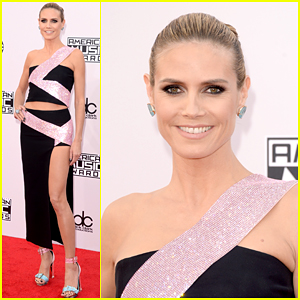 Heidi Klum Shows Off Her Long Legs at American Music Awards 2014