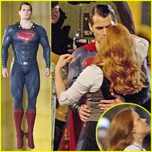 Henry Cavill Hangs in the Air in His Superman Costume in Chicago