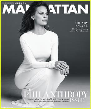 Hilary Swank Embraces Her Strength & Feminity on 'Manhattan' November 2014 Cover