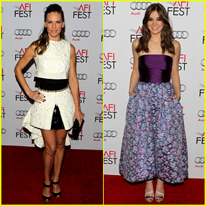 Hilary Swank & Hailee Steinfeld Prep for Awards Season with 'The Homesman' AFI Premiere!
