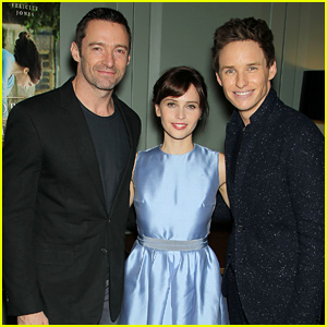 Hugh Jackman Hosts Screening of Eddie Redmayne & Felicity Jones' 'Theory of Everything'