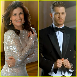 Idina Menzel & Michael Buble Debut Super Cute Music Video for 'Baby It's Cold Outside' - Watch Now!