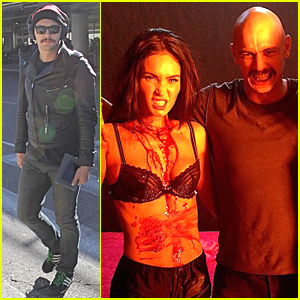 James Franco & Bloody Megan Fox Channel Vampires on 'Zeroville' Set