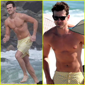 Kings of Leon's Jared Followill Has a Shirtless 'Baywatch' Moment on the Beach!